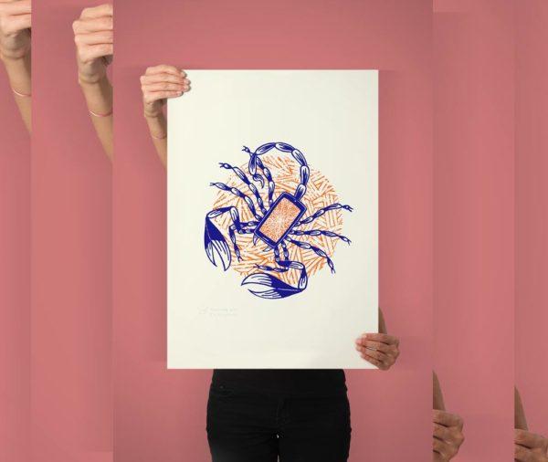 serigrafia artesanal EGO imatge